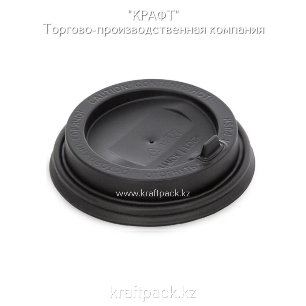 Крышка пластиковая с клапаном, черная D90 DoEco (100/1000)
