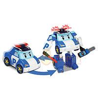 Robocar Poli Машинка-трансформер Поли, 7,5 см., Robocar Poli