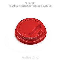 Крышка пластиковая с клапаном, красная D80 DoEco (100/1000)