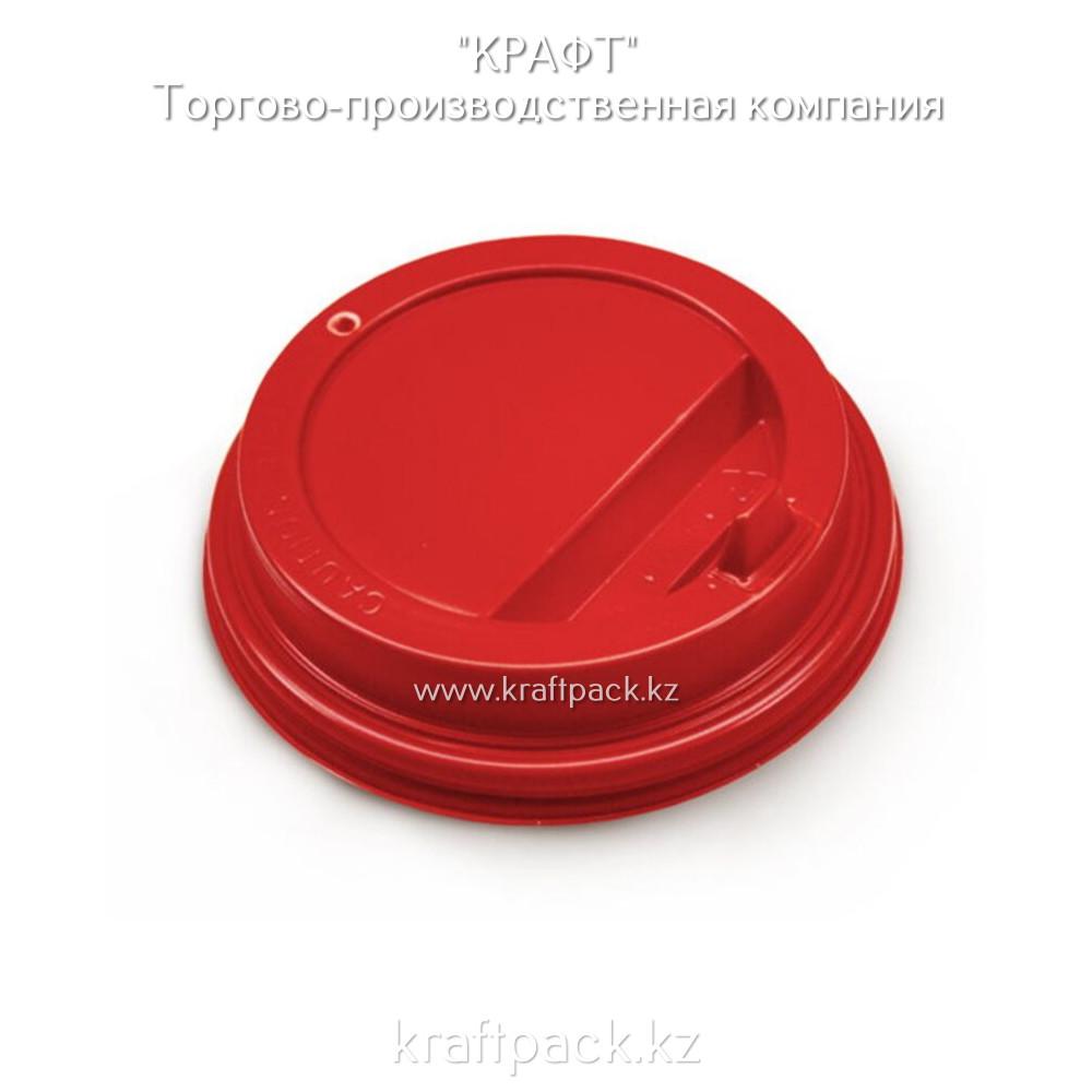 Крышка пластиковая с клапаном, красная D90 DoEco (100/1000)