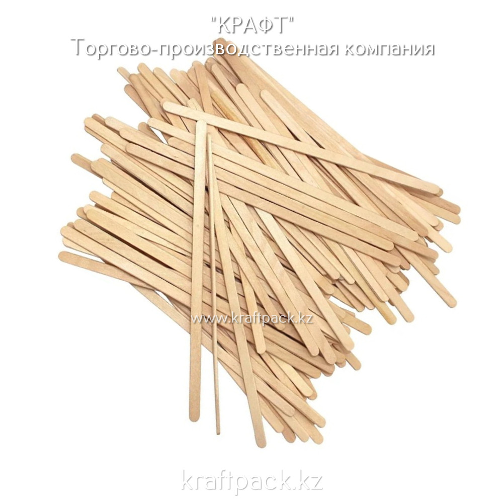 Эко-упаковка, деревянный размешиватель 180мм DoEco (1000)