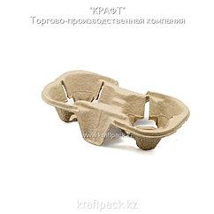 Эко-упаковка, держатель 2х для стаканов Эконом DoEco (150)