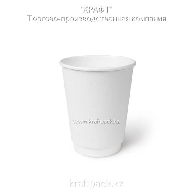 Двухслойный бумажный стакан БЕЛЫЙ для горячих/холодных напитков 350мл D90 (25/500)