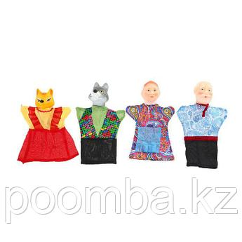 """Кукольный театр """"Волк и лиса"""", 4 персонажа"""