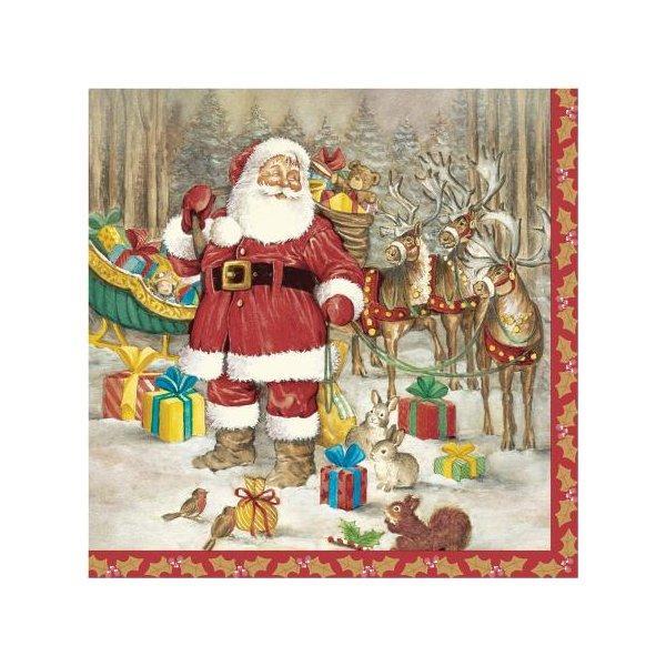 """Салфетки 33х33см, 3 сл., """"Hello Santa"""", Бумага, 20 шт"""