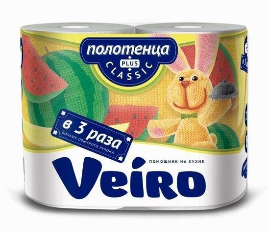 Полотенца бумажные 2сл. 2 рул. VEIRO Classic Plus , 2 шт, фото 2
