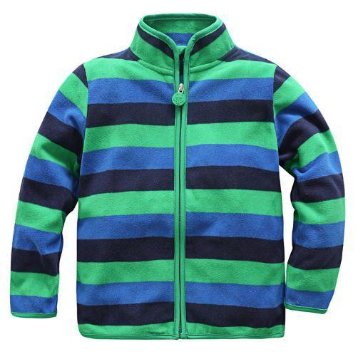 Флисовая кофта, цвет зеленый, 80  см.