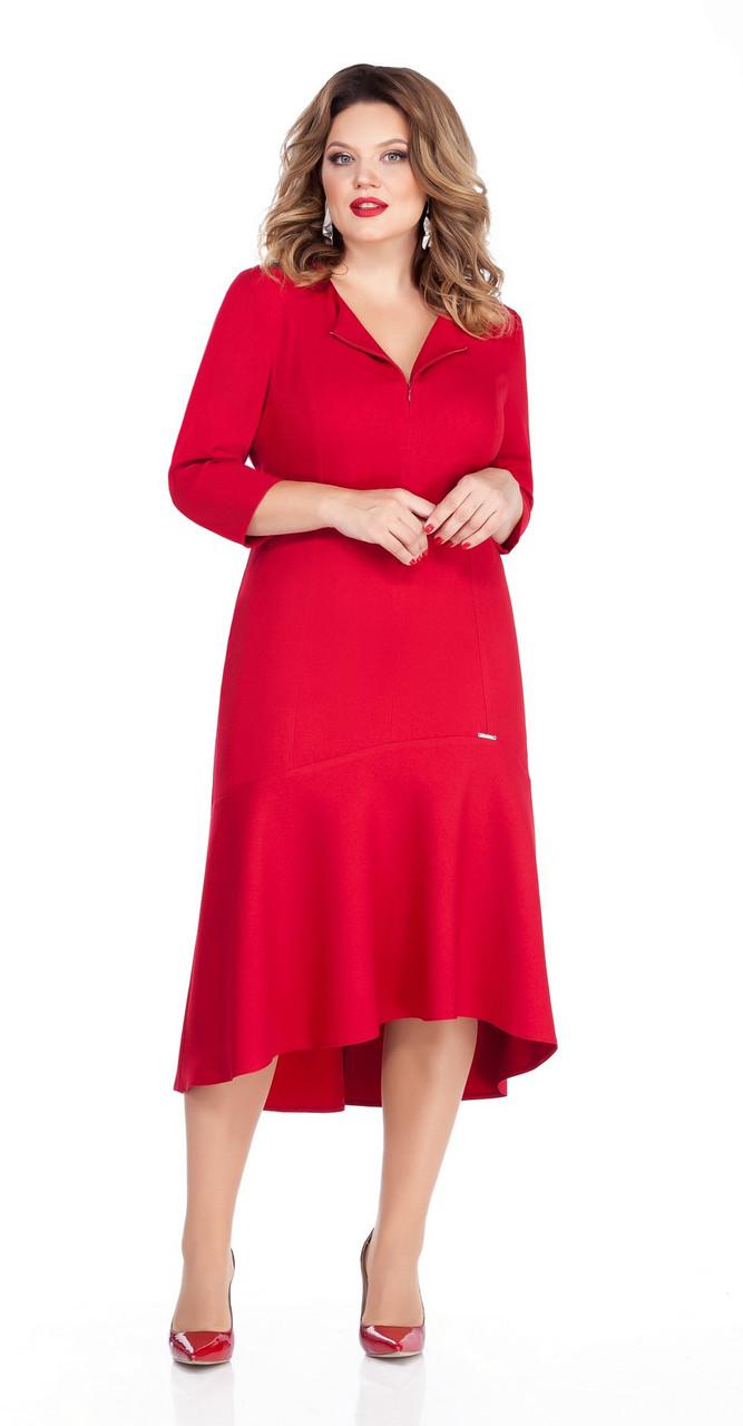 Платье TEZA-254, красный, 50