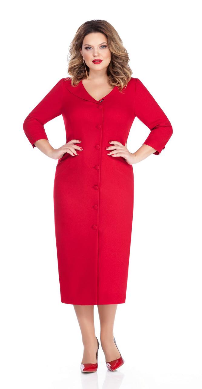 Платье TEZA-255, красный, 48