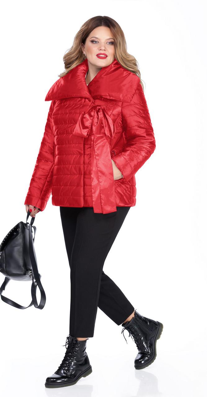 Пальто TEZA-261/1, красный, 50
