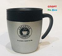 Термокружка термос для горячих напитков 300 мл (цвет серебро)