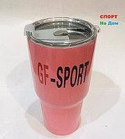 Термокружка термос для горячих напитков 700 мл (цвет розовый)