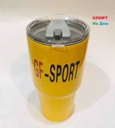 Термокружка термос для горячих напитков 700 мл (цвет желтый), фото 2