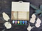 Набор ёлочных игрушек-раскрасок, фото 2