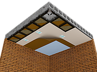 Каркасная звукоизоляция потолка Премиум