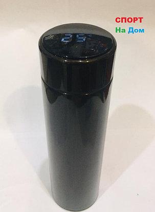 Термос с температурой на крышке для горячих напитков 500 мл (цвет черный), фото 2