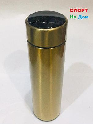 Термос с температурой на крышке для горячих напитков 500 мл (цвет золото), фото 2