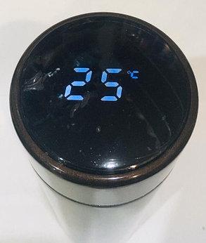 Термос с температурой на крышке для горячих напитков 500 мл (цвет розовый), фото 2