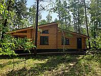 Строительство деревянного дома из бруса.