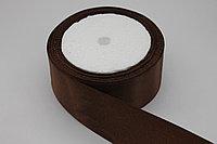 Атласная лента 40 мм. (4 см.) - коричневая (071) - 18 метров