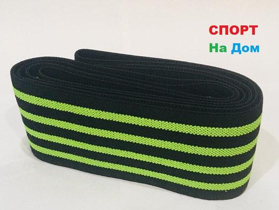 Бинты для тяжелой атлетики, бинты для приседа, эластичный бинт длина 2 метра (цвет зеленый), фото 2