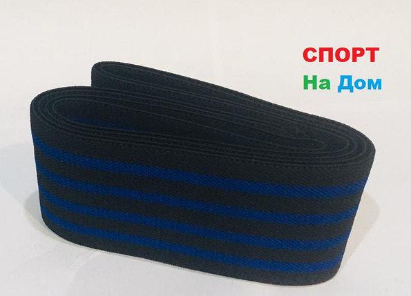 Бинты для тяжелой атлетики, бинты для приседа, эластичный бинт длина 2 метра (цвет синий), фото 2