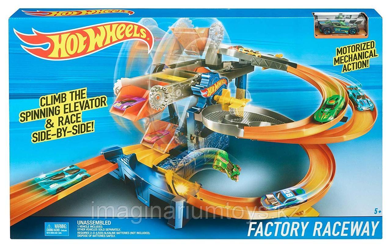 Hot Wheels моторизованный трек «Гонки на фабрике»