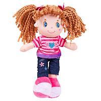 Кукла, брюнетка в джинсах, мягконабивная, 20 см