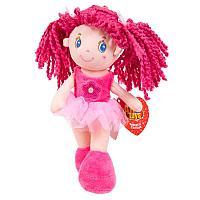 Кукла, с розовыми волосами в розовой пачке, мягконабивная, 20 см