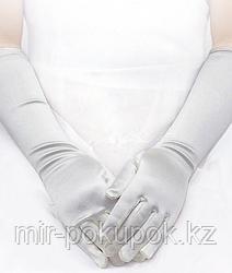 Перчатки детские длинные атласные