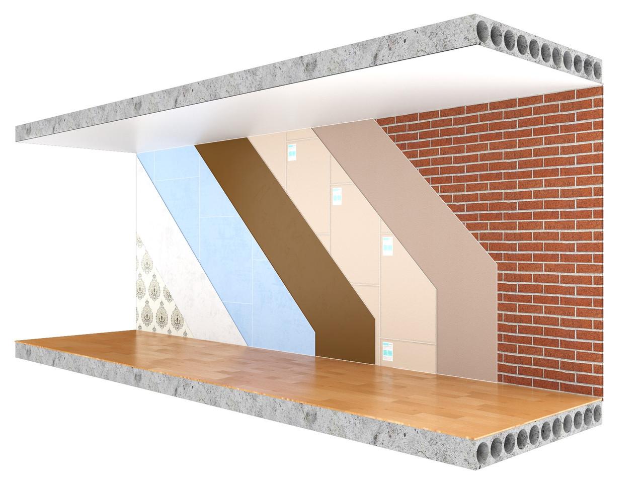 Бескаркасная звукоизоляция стен Премиум