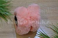 Меховые наушники складные цвет оранжевый