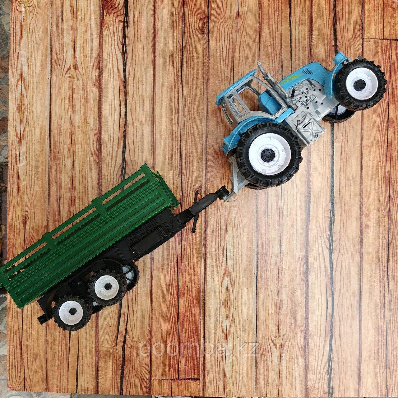 "Игрушка ""Синий трактор"" 35см"