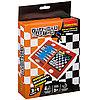 Удачная партия BONDIBON, 3в1 ( шахматы, шашки, нарды), ВОХ 15, 5x20x4, 2 см, оранжевая упаковка