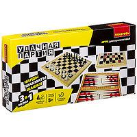 Удачная партия BONDIBON, 3в1 (шахматы, шашки, нарды), ВОХ 30, 1x15, 6x3, 5 см, арт. 18998., фото 1