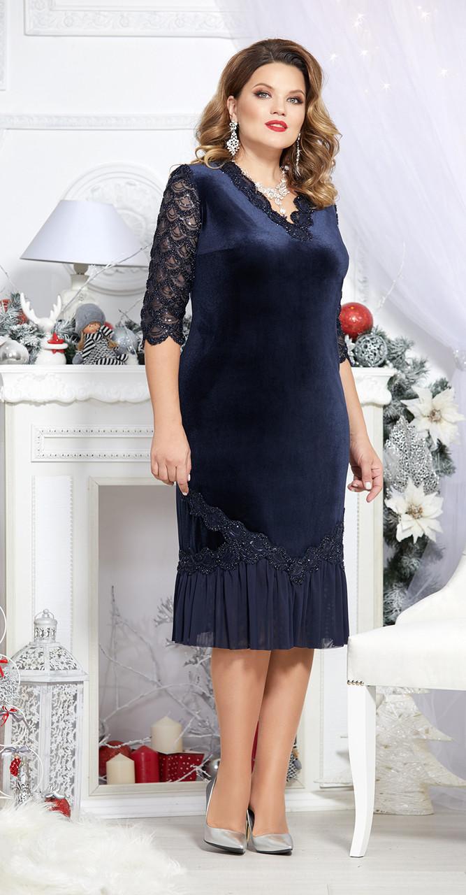 Платье Mira Fashion-4698, темно-синий, 54