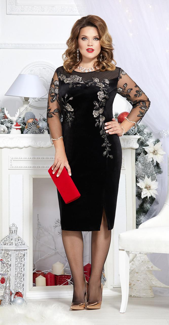 Платье Mira Fashion-4700, черный, 56