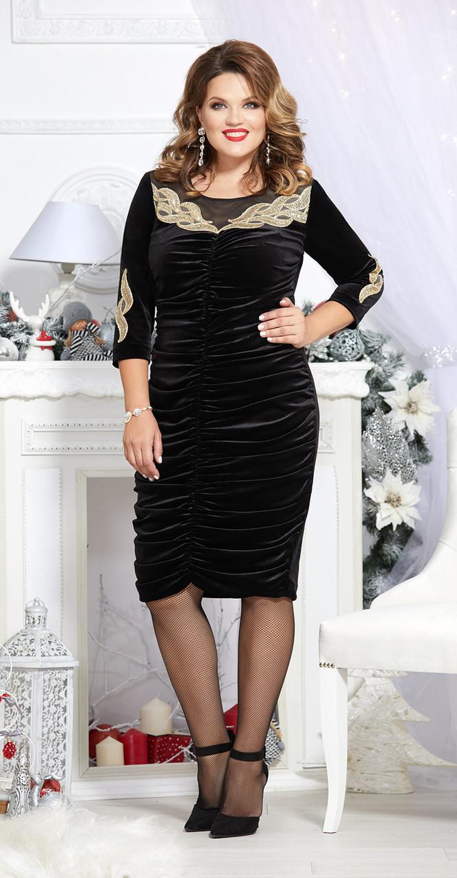 Платье Mira Fashion-4707, черный, 50