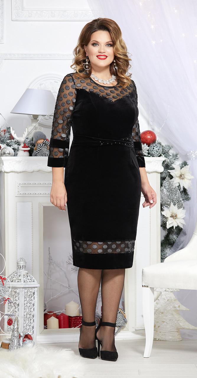 Платье Mira Fashion-4719, черный, 50