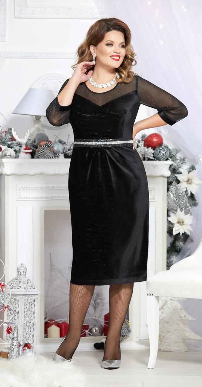Платье Mira Fashion-4729, черный, 56