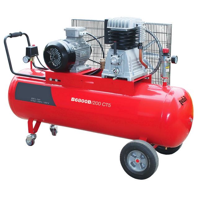 Компрессор ременной B6800B/200 CT5 690 л/мин 200 л 10 бар 4 кВт 380В