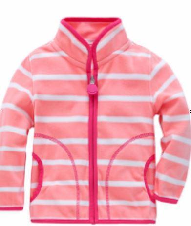Флисовая кофта, цвет розовый, 110 см.