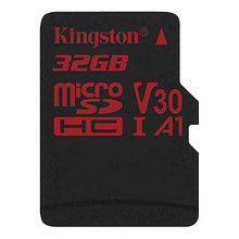 Kingston SDCR/32GBSP Карта памяти 32GB microSDXC Canvas React 100R/80W U3 UHS-I V30 A1 C, без адаптера