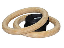 Деревянные гимнастические кольца + стропы   (28 мм), фото 3