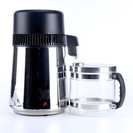 Бытовой дистиллятор воды. Настольный -  4л. (Корпус нержавейка, тара стекло), фото 2