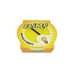 Тянущийся слайм Slime *Mega* Желтый, Светится в темноте