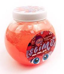 Тянущийся слайм Slime *Mega Mix*, прозрачный + красный, 500 г