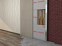 Каркасная звукоизоляция стен Стандарт +
