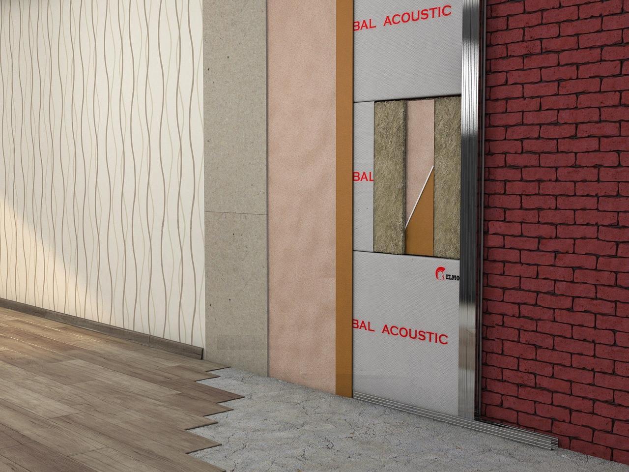 Каркасная звукоизоляция стен Комфорт +