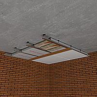 Каркасная звукоизоляция потолка Премиум +
